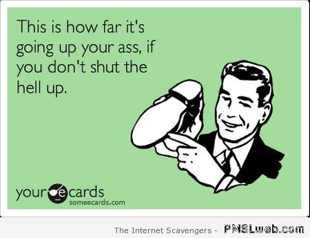 If you don't shut up at PMSLweb.com