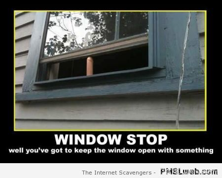 Funny window stop – Monday laughter at PMSLweb.com