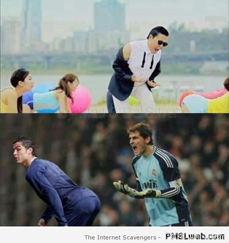 Oppa gangnam style football humor at PMSLweb.com