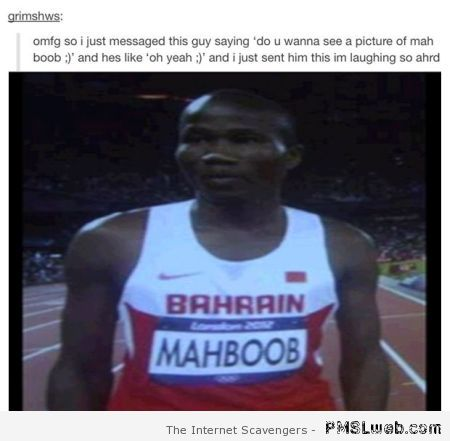 Funny picture of Mahboob – Thursday fun at PMSLweb.com