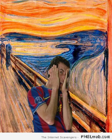 Sergio Busquets the scream humor at PMSLweb.com