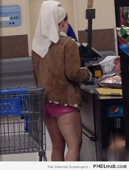 Out of the shower in walmart at PMSLweb.com