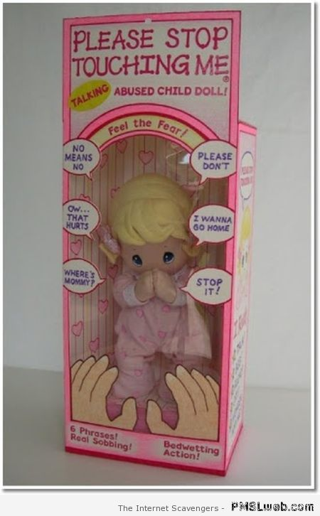 Abused child doll at PMSLweb.com