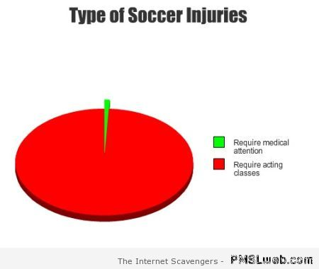 Type of soccer injuries graph – FIFA World cup humor at PMSlweb.com