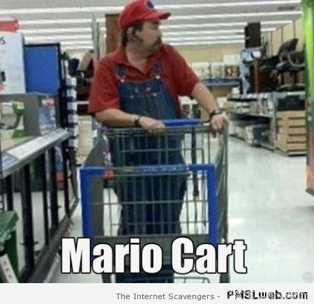 Mario cart in walmart – Walmart humor at PMSLweb.com