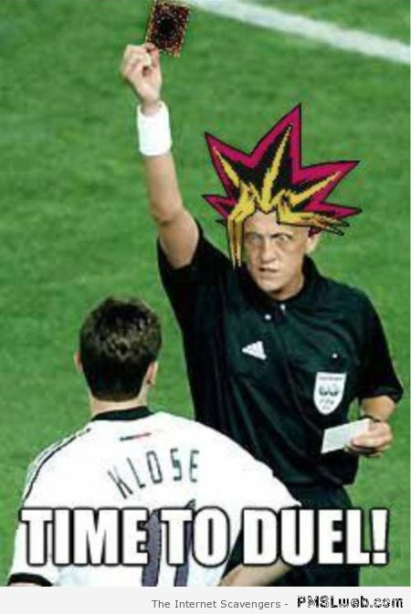 Football yu-gi-oh meme at PMSLweb.com