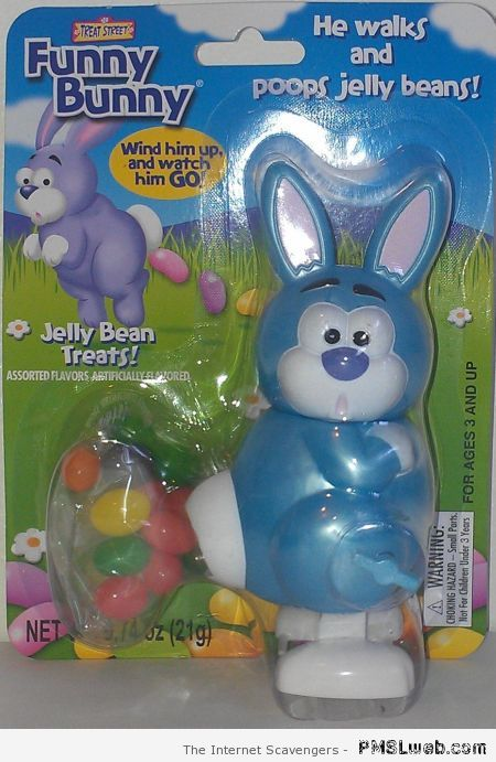 Funny bunny poops Jelly beans at PMSLweb.com