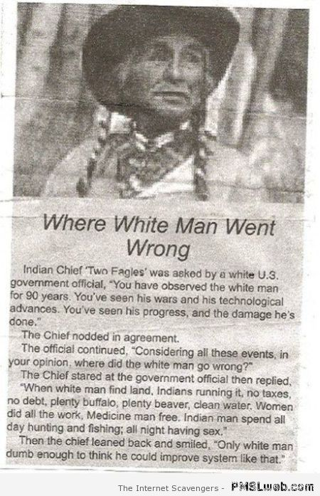 Where white man went wrong at PMSLweb.com