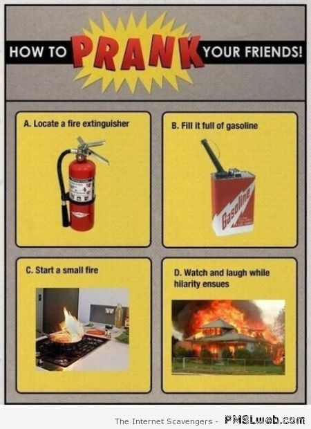 How to prank your friends – Saturday giggles at PMSLweb.com