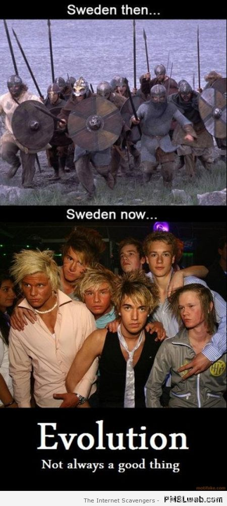 Sweden then versus Sweden now at PMSLweb.com