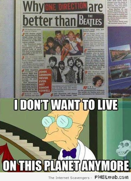 Comparing the Beatles to bieber meme at PMSLweb.com