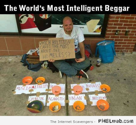 World's most intelligent beggar at PMSLweb.com