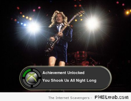 Angus Young achievement unlocked at PMSLweb.com