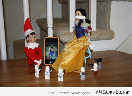 Naughty elf takes snow white hostage at PMSLweb.com