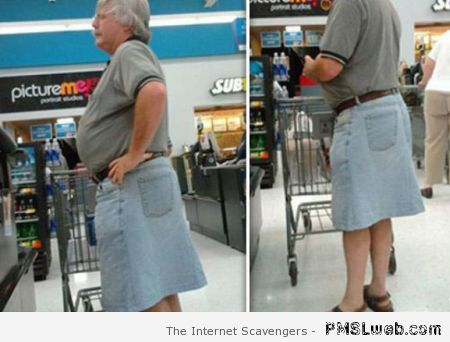 Funny male shopper in walmart – Walmart humor at PMSLweb.com