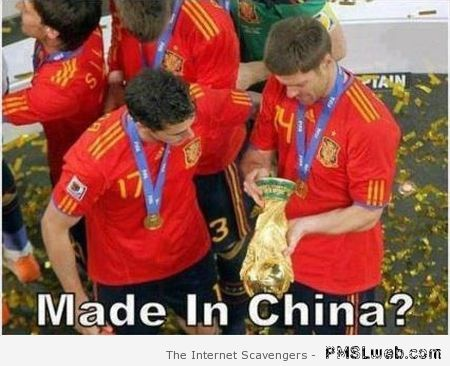 Spanish world cup made in China – FIFA World cup humor at PMSLweb.com