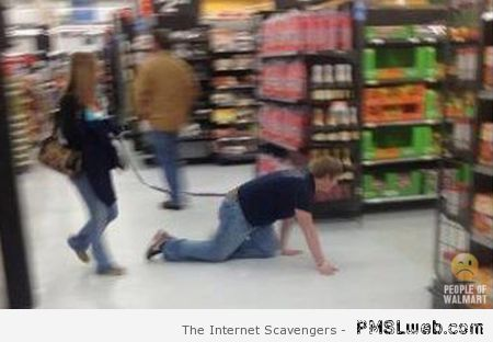 Walking your man in walmart at PMSLweb.com