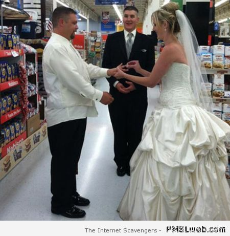 Walmart wedding at PMSLweb.com