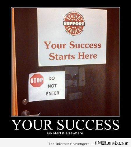 Your success – Demotivational pictures at PMSLweb.com