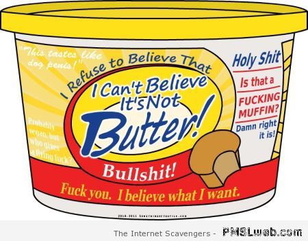 I can't believe it's not butter at PMSLweb.com