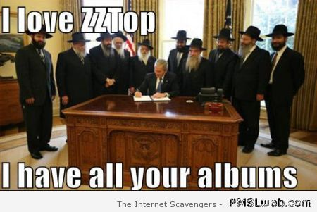 George Bush and ZZtop meme – Rock music funnies at PMSLweb.com