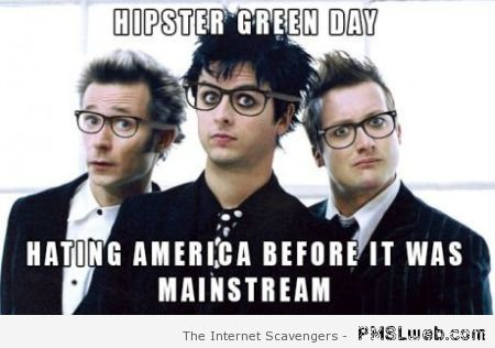 Hipster Green day meme – Rock music funnies at PMSLweb.com