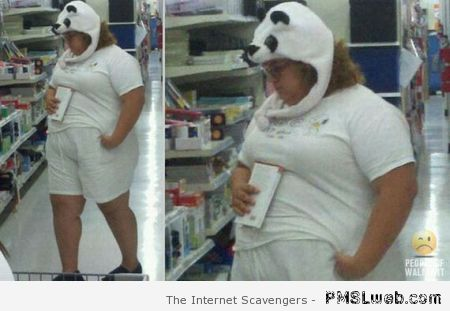Panda woman in walmart at PMSLweb.com