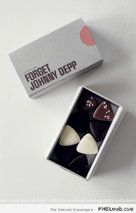 Forget Johnny Depp chocolates at PMSLweb.com