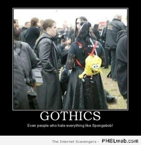 Gothics demotivational – Hump day craze at PMSLweb.com