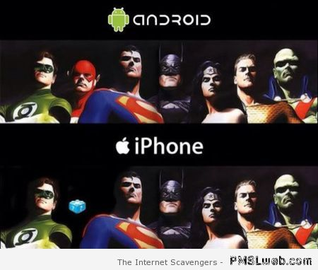 Avengers on iPhone funny at PMSLweb.com