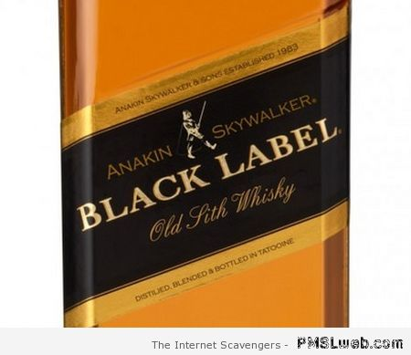 Black label skywalker whisky at PMSLweb.com