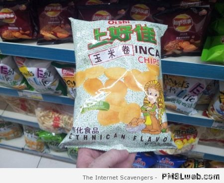 Weird flavored chips at PMSLweb.com