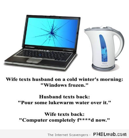 Windows frozen joke – Funny relationship pictures at PMSLweb.com