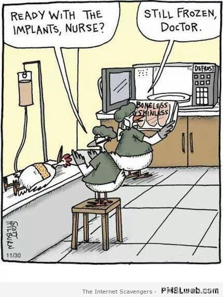 Poultry implants humor at PMSLweb.com