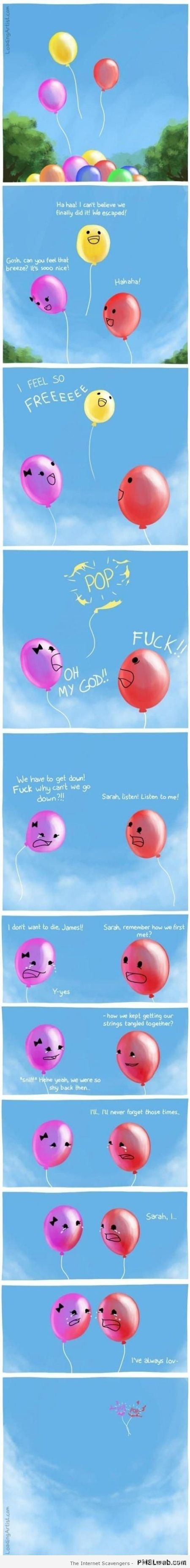 Balloon love funny cartoon at PMSLweb.com