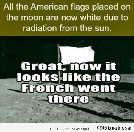 American flags on the moon are now white at PMSLweb.com