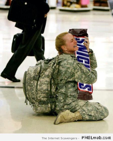 Snickers bar humor at PMSLweb.com