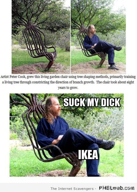 Suck my d*ck Ikea humor at PMSLweb.com