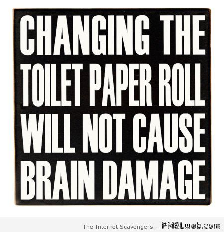 Changing the toilet paper roll at PMSLweb.com