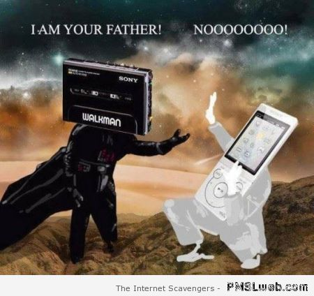 Darth Vader walkman I am your father at PMSLweb.com