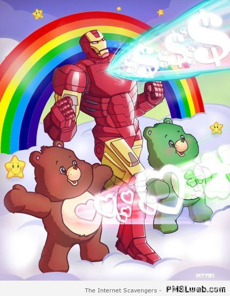Iron man and the care bears at PMSLweb.com