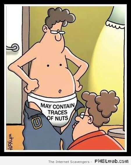 May contain traces of nuts cartoon at PMSLweb.com