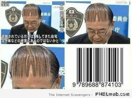 Barcode and hair comb humor at PMSLweb.com