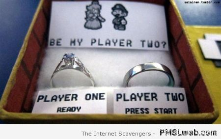 Gaming marriage proposal at PMSLweb.com
