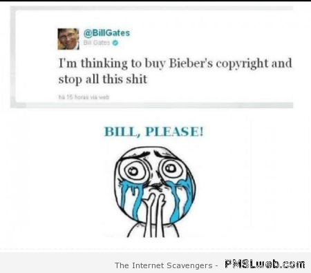 Bill Gates about Bieber win at PMSLweb.com