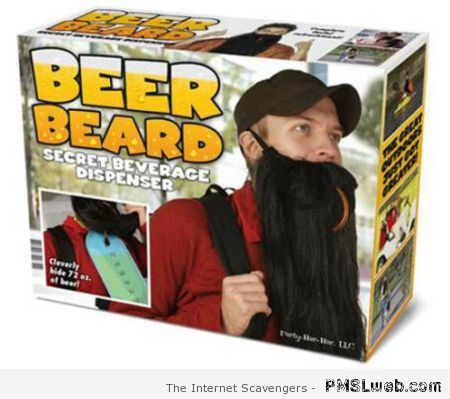Beer beard funny product at PMSLweb.com