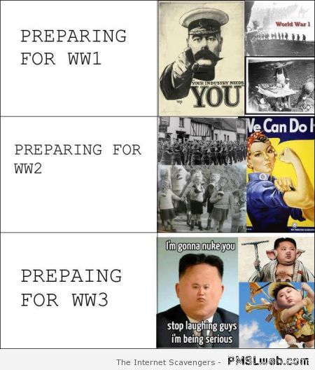 Preparing for WW3 humor at PMSLweb.com