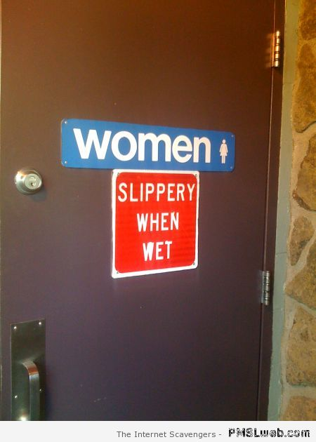 Women slippery when wet at PMSLweb.com