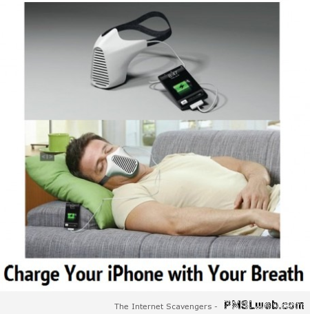 Charge your iPhone with your breath at PMSLweb.com