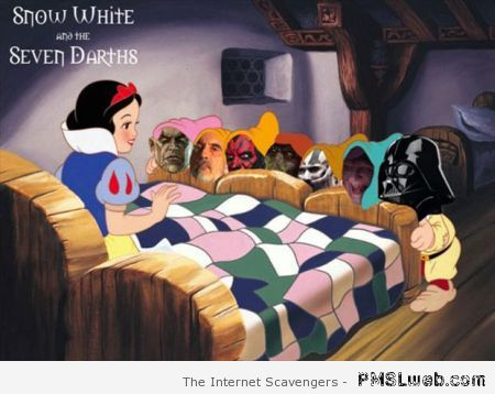 Funny Star Wars snow white and the seven dwarfs at PMSLweb.com